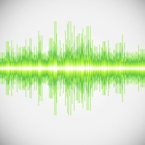 equalizer, colorful musical bar. white background